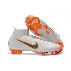 the best attitude be251 4ceba Botas de Futbol Nike Mercurial Superfly VI FG - Blanco Naranja Gris