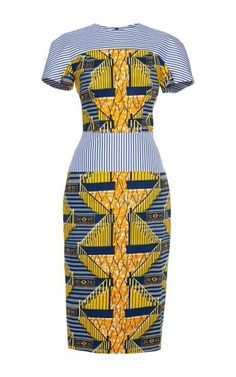 Shop Viola Printed Stretch Wax Dress by Stella Jean for Preorder on Moda Operandi. Seer sucker and african print body con dress. African Print Dresses, African Print Fashion, Africa Fashion, African Fashion Dresses, Ethnic Fashion, African Dress, Fashion Prints, Love Fashion, Fashion Design