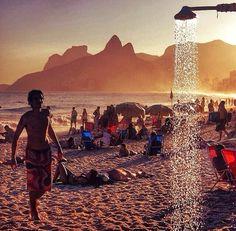 Ipanema Beach #RioDeJaneiro #Holiday #Brazil2014 #WorldCup2014 #SunSet #Samba #Brasil #SouthAmerica #Sun #Sea #Sand #Brazil