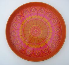 Psychedelic Flowery Tin Tray