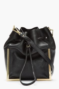 2ac6ffbdb35a 3.1 PHILLIP LIM Black Scout Crossbody Lux Grain Goat leather bag    need  Scout Bags