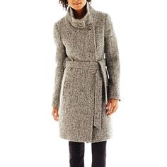 eb96e574441 Collezione Belted Tweed Coat - jcpenney Tweed Coat