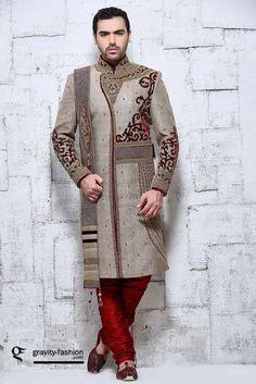 latest traditional indian sherwani 2015 & 2015, royal men shewani  with duppatta