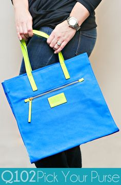 Marc by Marc Jacobs - Electric Blue Lemonade Tote. Go to wkrq.com to find out how to play Q102's Pick Your Purse!