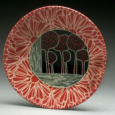 5 Web Plate 8 – Art – Art is my life. Pottery Plates, Ceramic Pottery, Pottery Art, Sgraffito, Ceramic Clay, Ceramic Plates, Decorative Plates, Pottery Painting, Ceramic Painting