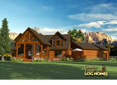 Log Homes and Log Home Floor Plans Cabins by Golden Eagle Log Homes  COUNTRY'S BEST #2172,  #3 bed #3 bath