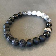 Lunar Eclipse bracelet that mimics the phases of the moon bracelets Lunar Eclipse Diy Jewelry, Beaded Jewelry, Handmade Jewelry, Jewelry Making, Male Jewelry, Bracelet Sizes, Necklace Sizes, Silver Bracelets, Jewelry Bracelets