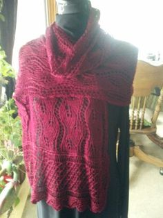 Knitted lace wrap out of duponi silk