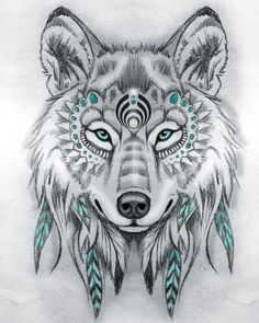 Tattoo Sketches 743094007251367329 - Tribal wolf drawing pencils, model black and white drawing with touches of blue, symbol amerindien Source by oxxelos Tattoo Sketches, Drawing Sketches, Tattoo Drawings, Body Art Tattoos, Drawing Drawing, Sketch Art, Tattoo Art, Small Tattoos, Drawing Ideas