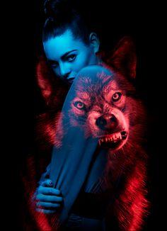 like a wolf. Multiple Exposure, Double Exposure, Wolf Spirit, Spirit Animal, Wolf Photography, Portrait Photography, Photoshop, Projector Photography, Wolf Hybrid