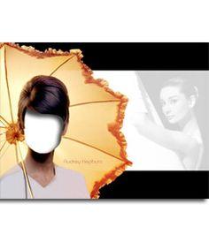 #Fotomontaje de Audrey Hepburn en una #famosa imagen suya. #audry #hepburn #actriz #diva #celebrity #icono #cine #50s www.fotoefectos.com