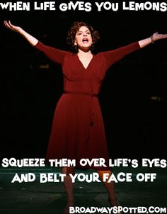 Patti Lupone. I've pinned this once, but I think it is worth pinning again.