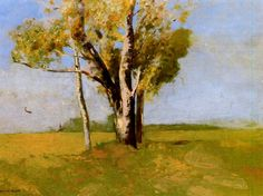 Trees Artist: Odilon Redon Completion Date: c.1875 Style: Impressionism Genre: landscape Technique: oil Material: panel Gallery: Private Col...