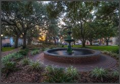 Lafayette Square in Historic Savannah Georgia