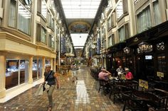 Inside the Voyager of the Seas luxury cruise liner ... the Royal Promenade. Photo by Justin McManus.
