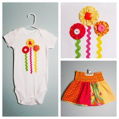 Bodysuit and Skirt Outfit for Spring, Easter, Summer - 18 month size, Ready to ship! on Etsy, $30.00