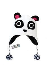 "Bonnet péruvien animaux rigolo en polaire ""Kuma"" le panda.  Peruvian hat funny animals polar ""Kuma"" panda."