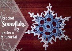 Snowflakes - Free Crochet Pattern & Tutorial · The Magic Loop Crochet Snowflake Pattern, Crochet Snowflakes, Crochet Patterns Amigurumi, Crochet Motif, Crochet Doilies, Crochet Flowers, Free Crochet, Doily Patterns, Dress Patterns