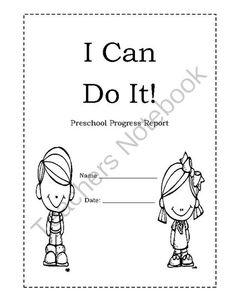 I Can Do It- Preschool Progress Report from Angie'sPage on TeachersNotebook.com - (12 pages) - Preschool Progress Report