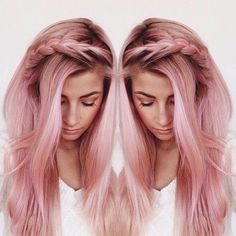 This really makes me want to have pink hair....so pretty