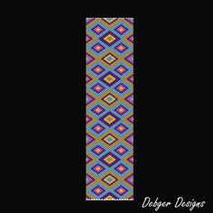 Tapestry Rug 2 Beaded Peyote Bracelet Cuff by FUNPATTERNDESIGNS