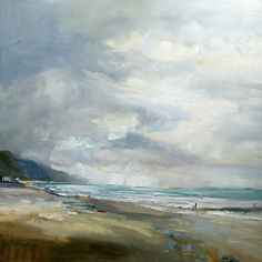 A Blustery Day on the Beach 130x130cm copy