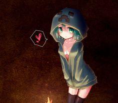 anime - minecraft hoodie