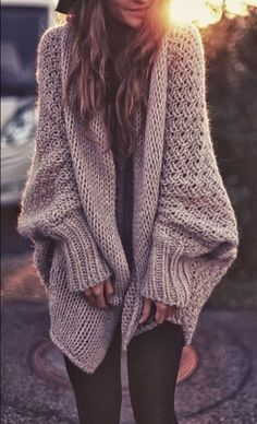 Oversized and Shapeless Beige Amazing Cardigan for Fall and Winter