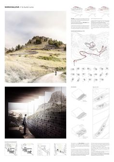 Gallery of YAC announces the winners of the Castle Resort competition - 12 - Art / Art aesthetic - Architecture Architecture Panel, Architecture Graphics, Architecture Drawings, Landscape Architecture, Landscape Design, Architecture Layout, Architecture Diagrams, Presentation Board Design, Architecture Presentation Board