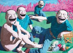 Dejeuner sur l'herbe - Chinese contemporary style (Yue Minjun)