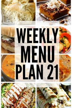 Search Results WEEKLY MENU PLAN
