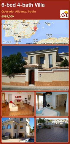 Villa for Sale in Ciudad Quesada, Alicante (Costa Blanca), Spain with 6 bedrooms, 4 bathrooms - A Spanish Life Large Bedroom, Double Bedroom, Valencia, Portugal, Dressing Area, Family Bathroom, Entrance Hall, House 2, Kitchen Art