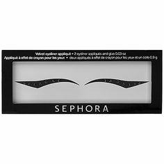 Easy-to-use eyeliner stickers that create the illusion of flawless liquid liner. Flaunt the perfect cat eye in an instant with these easy-to-apply appliques. The velvety sticker goes on silky smooth and the included glue ensures a long-lasting, beautiful finish.'