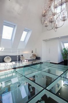 Glass Ceiling Design and Ideas - The ceiling doesn't appear breakable. Truly, there's no glass ceiling when you look right through it. A glass ceiling is truly a set of stereotypes wh. by Joey Contemporary Apartment, Contemporary Decor, Contemporary Houses, Floor Design, Ceiling Design, Ceiling Ideas, Modern Interior Design, Interior Architecture, Ultra Modern Homes