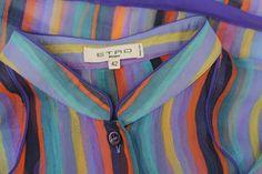 Etro Multi Colored Silk Top Sz. S