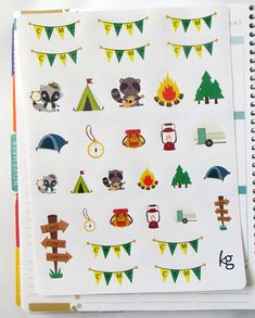 Camping Planner Stickers for Erin Condren Planner by PlannerPenny