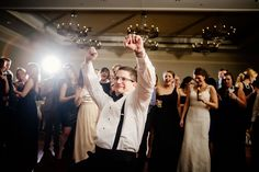 Notre Dame friends get silly at wedding reception dance circle