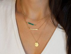Layering Necklaces Set  // Choose Silver or Gold di LayeredAndLong, $98.00