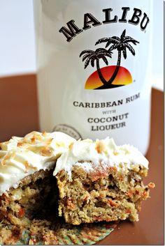 Coconut Rum Carrot Cake Cupcakes