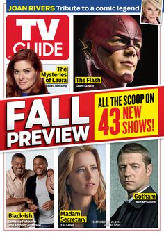 September 15, 2014. Fall Preview, featuring The Mysteries of Laura, The Flash, Black-ish, Madam Secretary, Gotham and more
