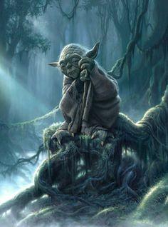 """Luminous Being"" by Jerry Vanderstelt ~ Star Wars Artwork ~"