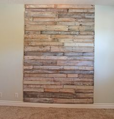 I want this as a floor! I wonder if you laminated to some particle board or the like, you could use a floor sander to level out? I suppose you'd need a filler of some sort, maybe black? Or a bright turquoise could be awesome? hmmmm