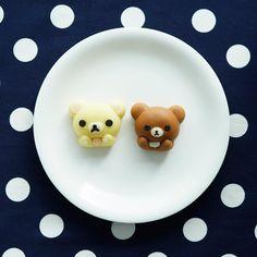 「食べマス リラックマ コリラックマとチャイロイコグマ」が数量限定で登場です♪「がおポーズ」を再現した練りきりの和菓子が可愛いです(^^) http://lawson.eng.mg/91b99