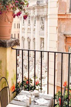 View the Fontana Di Trevi at breakfast. | Rome, Italy