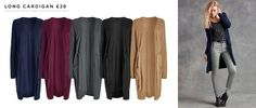 Long Cardigan in Regular, Petite, or Tall £28 (Listed separately online but same as the Maxi Cardigan - and more colour choice)