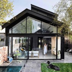 A modern extension that contrasts with its heritage facade ✨ All the colours really pop in our photo shoot with Styling by Drive In, Build Your Dream Home, My Dream Home, Duplex Design, House Design, Garden Design, House Extensions, Facade House, Scandinavian Home