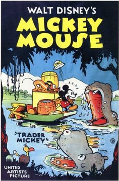 Filme / Zeichentrick: Mickey Mouse-Trader Mickey (USA von Walt Disney im Vintage Disney Posters, Retro Disney, Disney Movie Posters, Classic Movie Posters, Cartoon Posters, Old Disney, Classic Cartoons, Vintage Cartoon, Disney Love