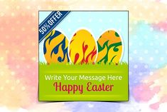Easter Instagram Banner  by Nisha Mehta Droch on @creativemarket
