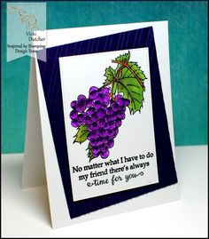 Inspired by Stamping, Sun-Ripened Grapes stamp set, Vicki Dutcher, thinking of you card