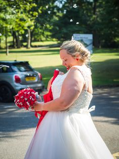 A very small ceremony during COVID-19, with the exit of the lovely building being around the back by the car park. Mother of the Bride snuck some confetti and threw it over her new daughter in law! #kabbijpatchphotography #weddingphotography #bridewithconfetti #casualwedding Daughter In Law, Casual Wedding, Photography Portfolio, Car Park, Mother Of The Bride, Confetti, Flower Girl Dresses, Wedding Photography, Wedding Dresses
